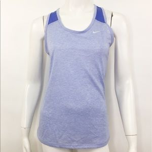NIKE LEGEND PURPLE DRI-FIT RACERBACK TANK